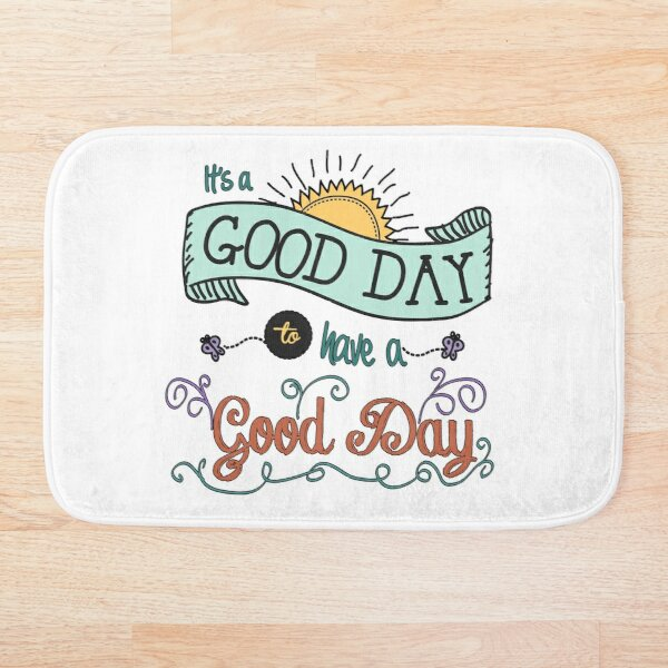 It's a Good Day with Color by Jan Marvin Bath Mat