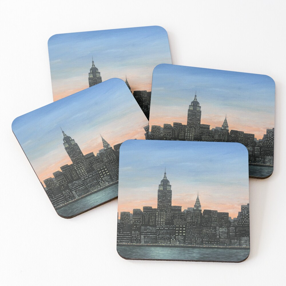 NYC Skyline Painting Coasters (Set of 4)