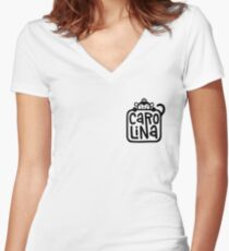 Carolina Logo Women's Fitted V-Neck T-Shirt