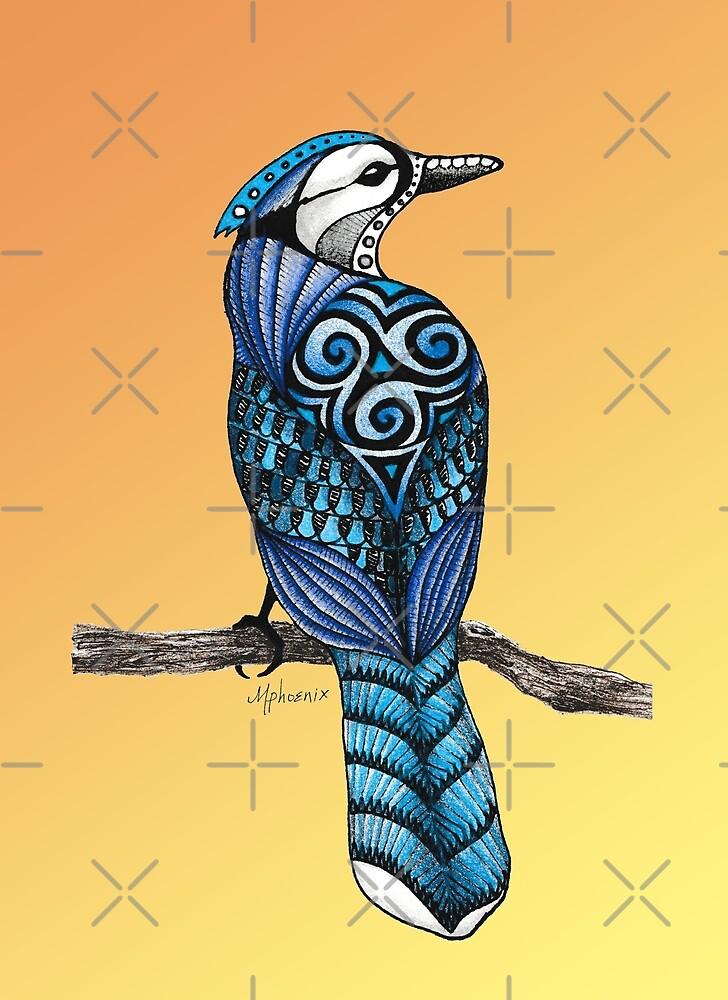 Blue Jay (Sunrise Background) by Free-Spirit-Meg