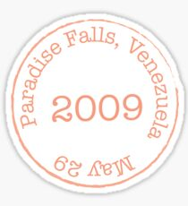 Paradise Falls Stamp Sticker