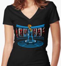 Iron Aran Women's Fitted V-Neck T-Shirt