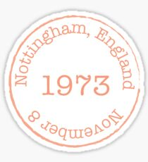 Nottingham, England Sticker