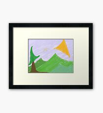 Spicy, Crispy Hills And Sun Framed Print