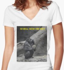 Forget The Diet Women's Fitted V-Neck T-Shirt