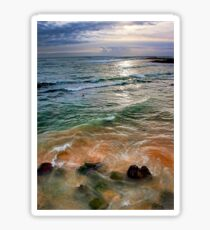 sand and sea love Sticker
