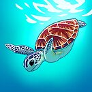Green Sea Turtle by Tami Wicinas