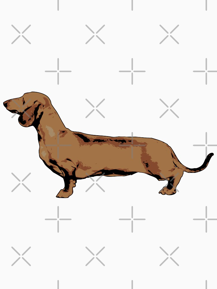 Red Smooth Haired Dachshund by tribbledesign