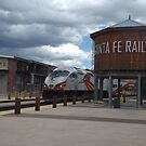 New Mexico Railrunner Departs Santa Fe Railyard, Santa Fe, New Mexico by lenspiro