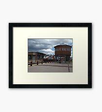 New Mexico Railrunner Departs Santa Fe Railyard, Santa Fe, New Mexico Framed Print
