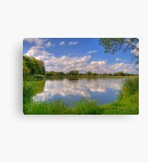 Yahara River Reflections-2 Canvas Print