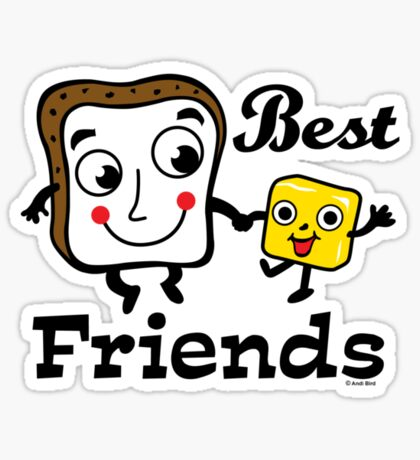 "Bread and Butter ""Best Friends""  Sticker"