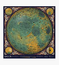 A Topographic Map of the Moon Photographic Print