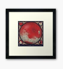 A Topographic Map of Mars Framed Print