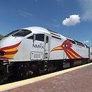 New Mexico Railrunner, Santa Fe Railyard, Santa Fe, New Mexico by lenspiro