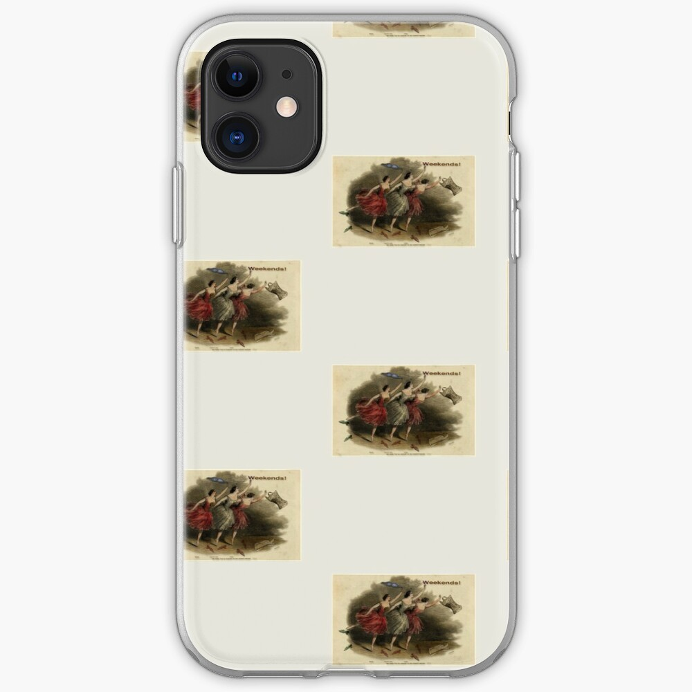 Weekends Ballerina Style - Ballet Dancers In A Beautiful Art Print Ready For The Weekend! iPhone Case & Cover
