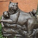 Bear Sculpture, Sculpture Garden, Canyon Road, Santa Fe, New Mexico by lenspiro