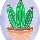 Aquarell Kaktus Pastellbabys von alison reckewey