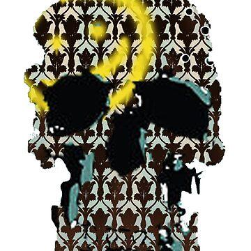 Sherlock's Skull and Wallpaper by Chiswick