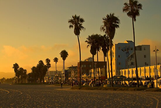 u0026quot;Dusk on Venice Beach, Californiau0026quot; Posters by Barb White : Redbubble