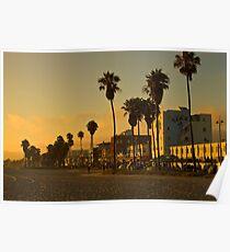 Dusk on Venice Beach, California Poster