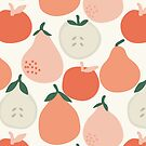 Pear orange fruits pattern  by theseakiwi