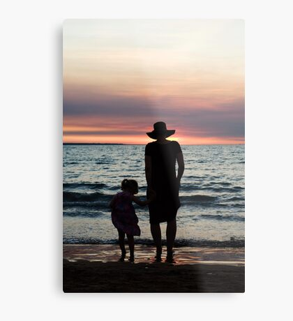 Mother and child - Darwin sunset Metal Print