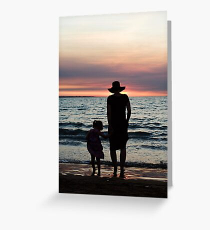Mother and child - Darwin sunset Greeting Card