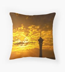 Final sunrise on final day in Las Vegas, Nevada 2010 Throw Pillow