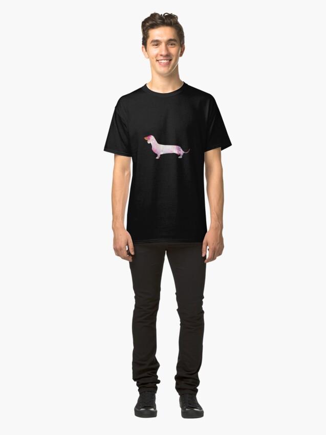 Alternate view of Paint Splash Dachshund Classic T-Shirt