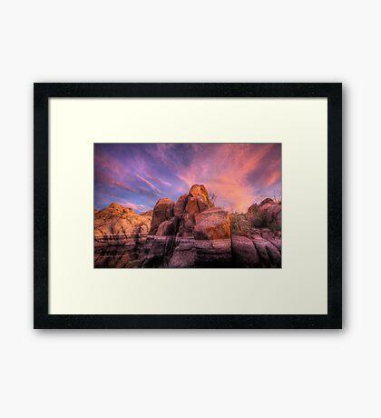 Soft and Hard Framed Print