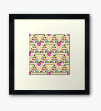 eco geometric Framed Print