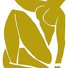 Matisse schnitt Abbildung # 3 Senf-Gelb heraus von ShaMiLaB
