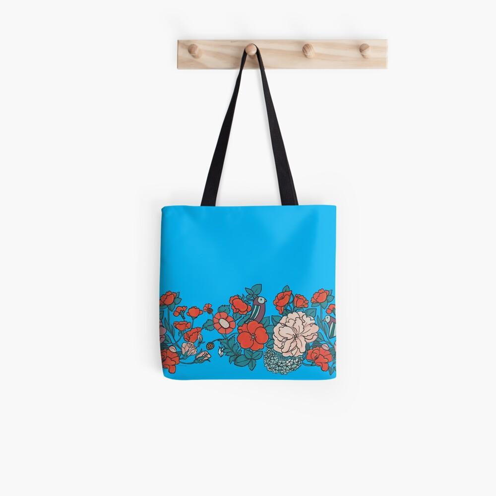 Asian Flowers Tote Bag