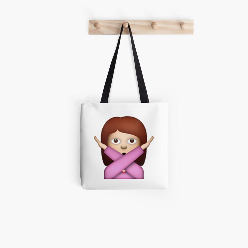 Gekreuzte Arme Emoji Stofftasche