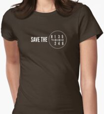 Save the Manual Transmissions (stick shift) Women's Fitted T-Shirt