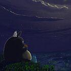 «Totoro playing the ocarina» de Roberto Nieto