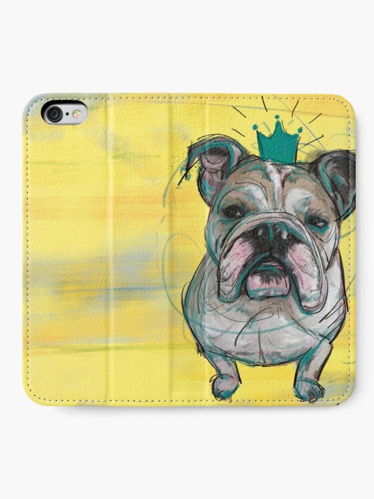 Alternative Ansicht von Bulldoggen Prinzessin iPhone Flip-Case