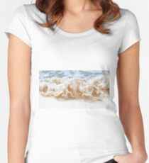 sea foam. Fitted Scoop T-Shirt