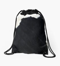 Luxury Cowhide Drawstring Bag