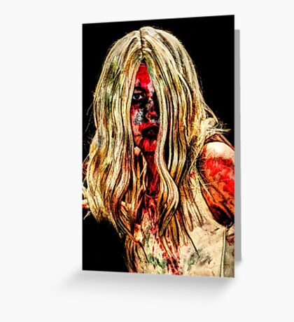 0774 Zombie Sureal Greeting Card