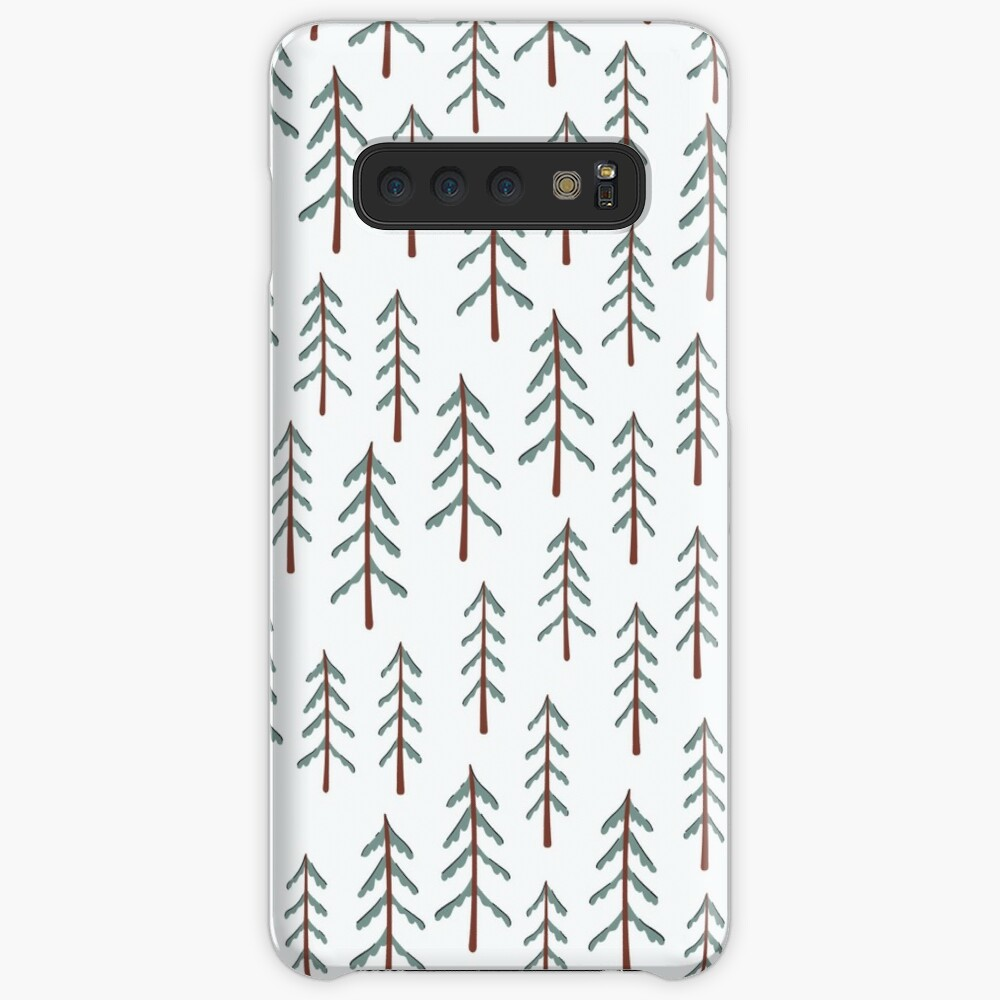 Fir tree doodle wood  Case & Skin for Samsung Galaxy