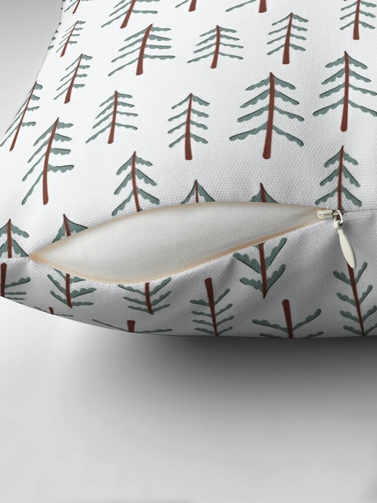Alternate view of Fir tree doodle wood  Floor Pillow