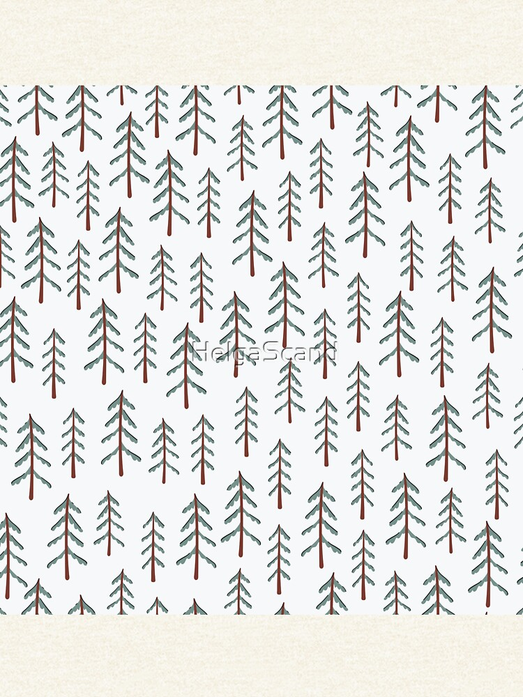 Fir tree doodle wood  by HelgaScand