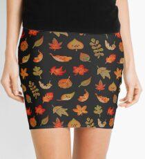 Sad fallen leaves Mini Skirt