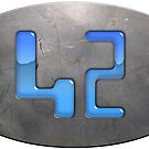 Hitchhiker's Guide 42 plaque by bmgdesigns