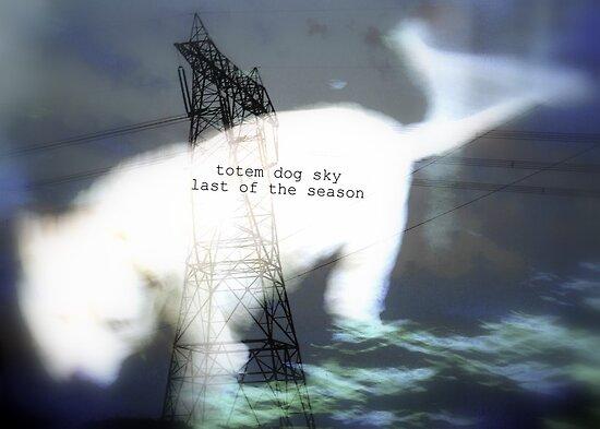 totem dog sky last of season by Marie Monroe