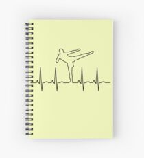 Karate Kid Heartbeat Spiral Notebook