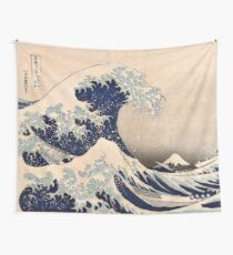 Classic Japanese Great Wave off Kanagawa by Hokusai Wall Tapestry Traditional Version HD High Quality Tapestry