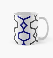 Blue and Grey Trellis Classic Mug